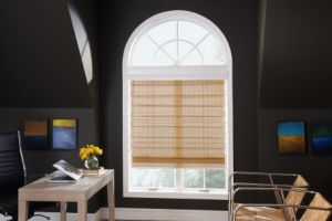 utilize woven wood shades